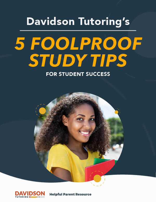 Davidson Tutoring 10 Foolproof study tips for Student Success. Photo of smiling girl.